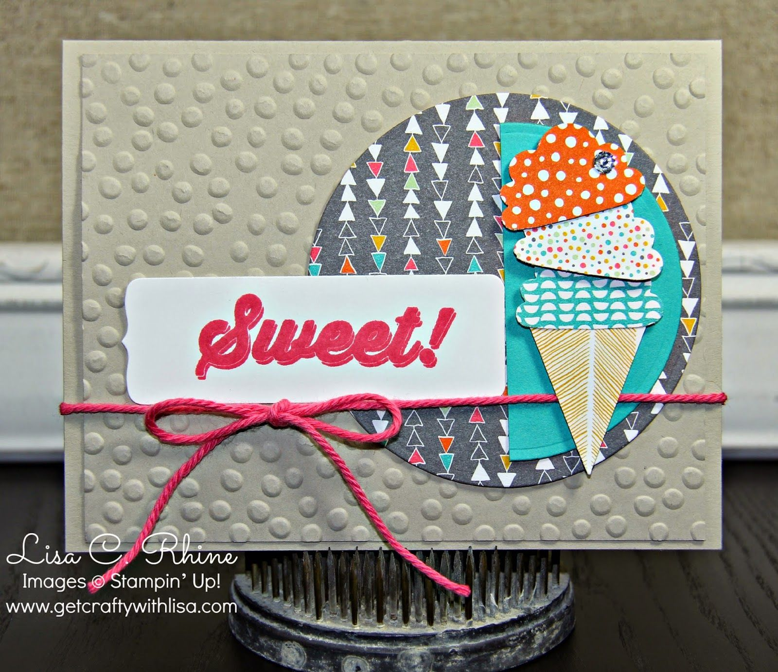 Get Crafty with Lisa Sweet Birthday for CCC This birthday card