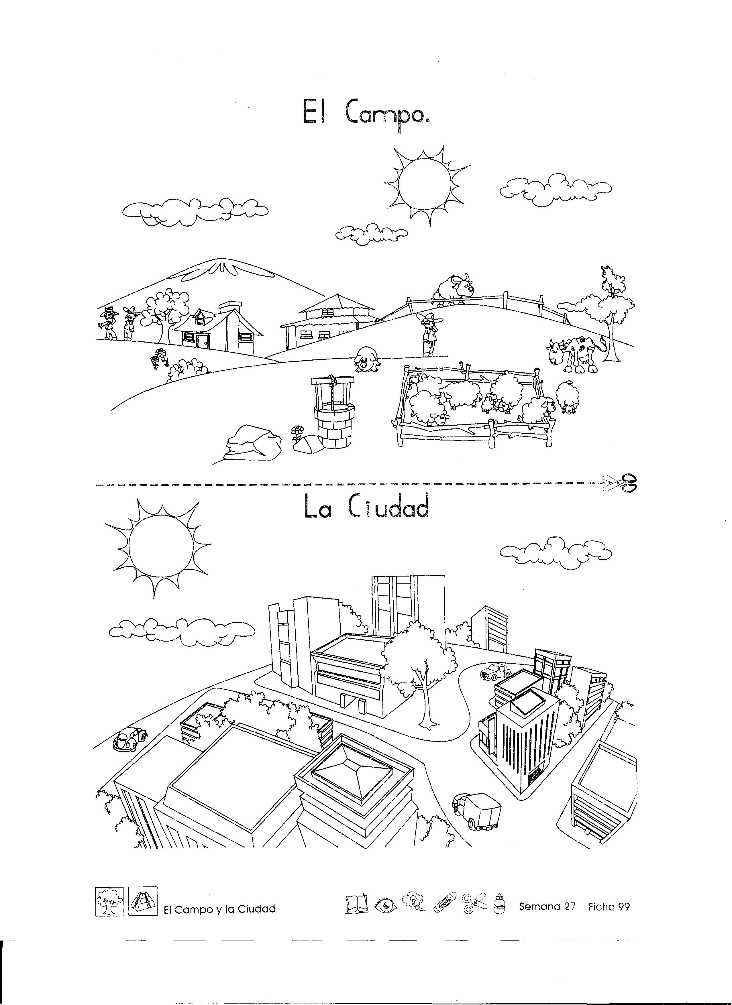 Campo Y Ciudad Para Primer Grado