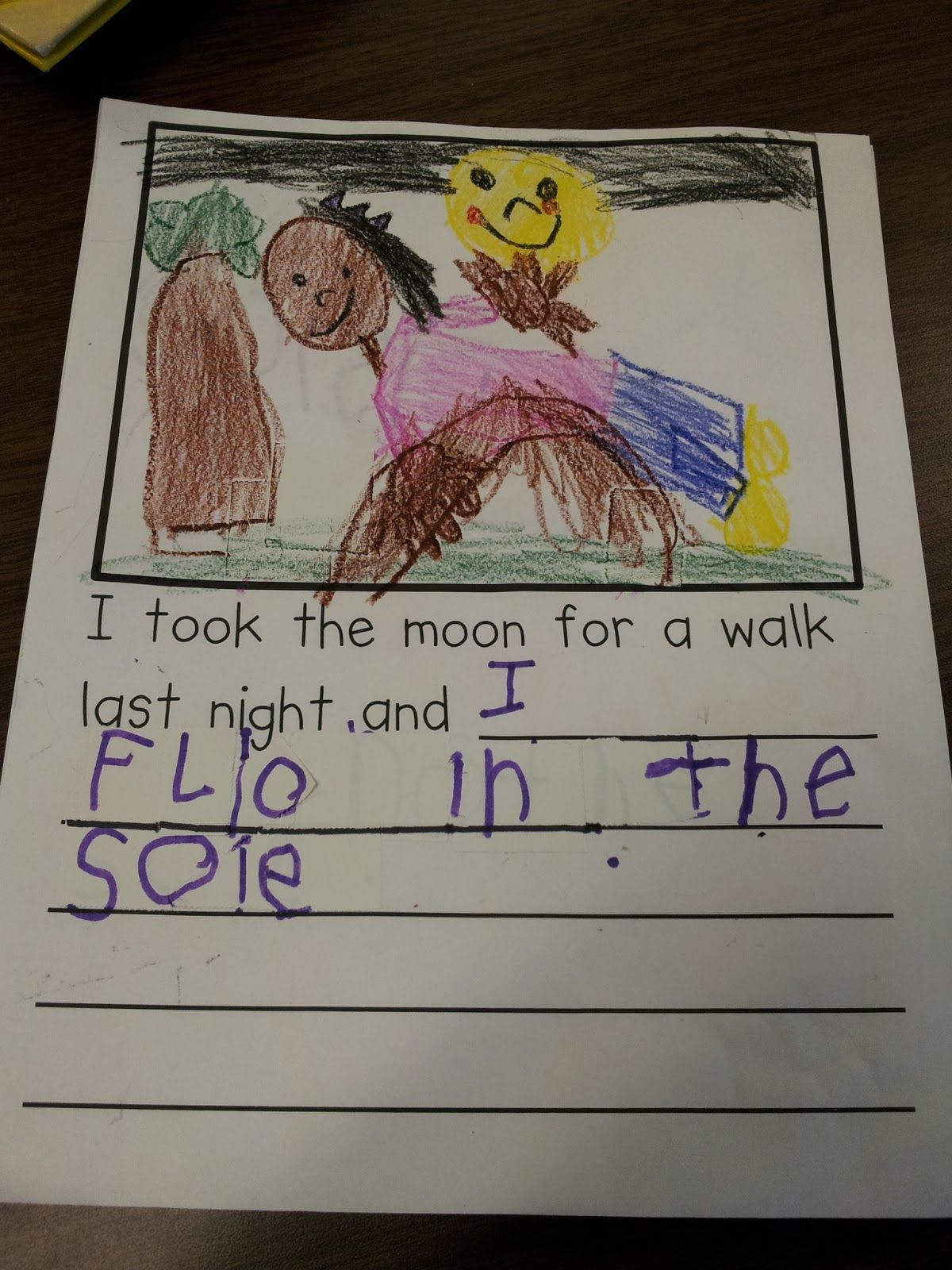 Chalk Talk A Kindergarten Blog I Took The Moon For A