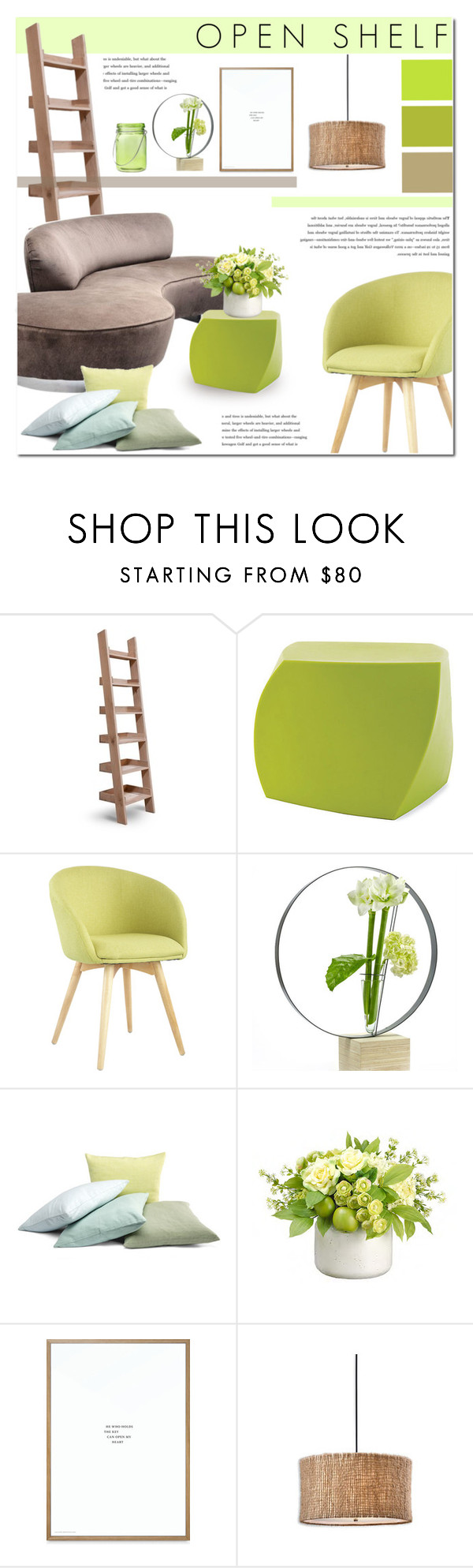 """Open Shelf"" by c-silla on Polyvore featuring interior, interiors, interior design, home, home decor, interior decorating, Garden Trading, Heller, Dot & Bo and Serax"