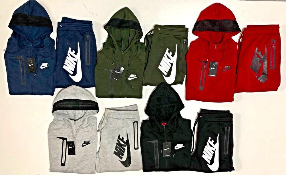 fa9d0f8c Nike Men's Sweat Suit Brand New Gray Full Zip Hoodie Joggers ...