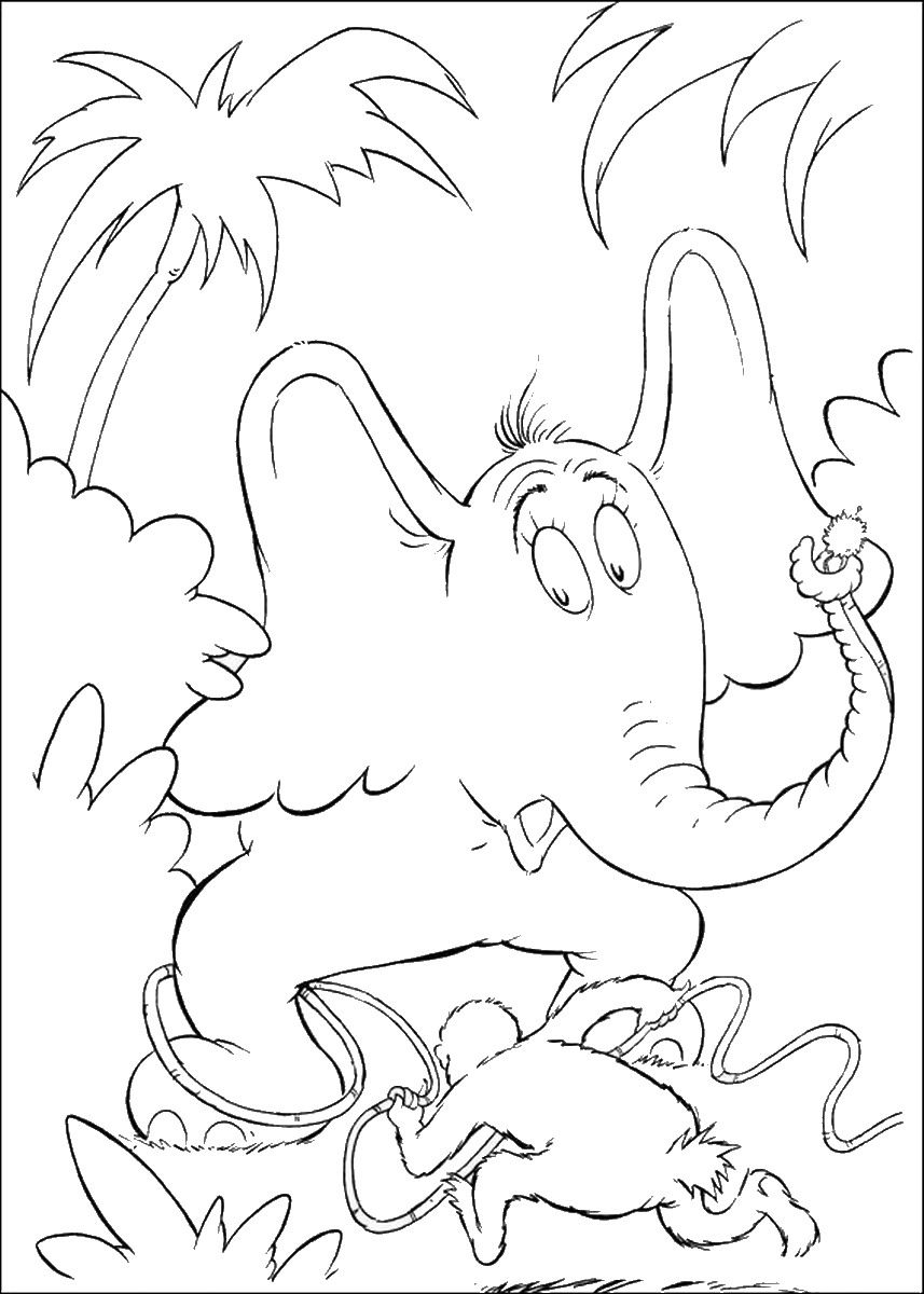 Horton Hears A Who Coloring Pages Download Horton Cl 31 Cat