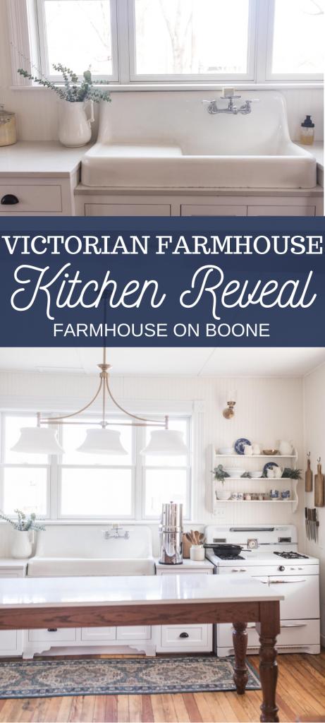Victorian Farmhouse Kitchen Reveal em 2020 Cozinha kitchens