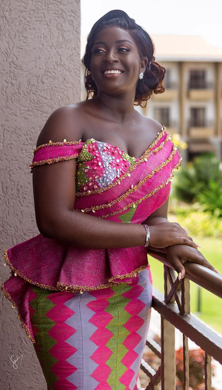 Kente Wedding Style African Wedding Attire Modern African Print Dresses African Fashion Dresses