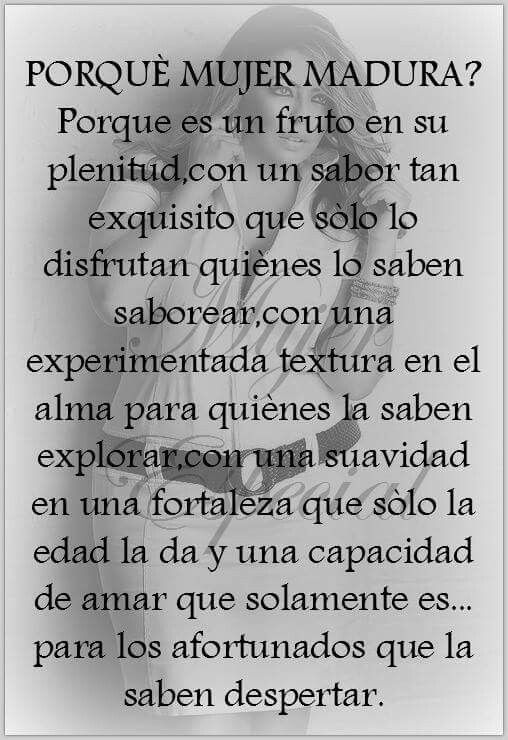 Mujer Madura Words Pinterest Frases Y Words