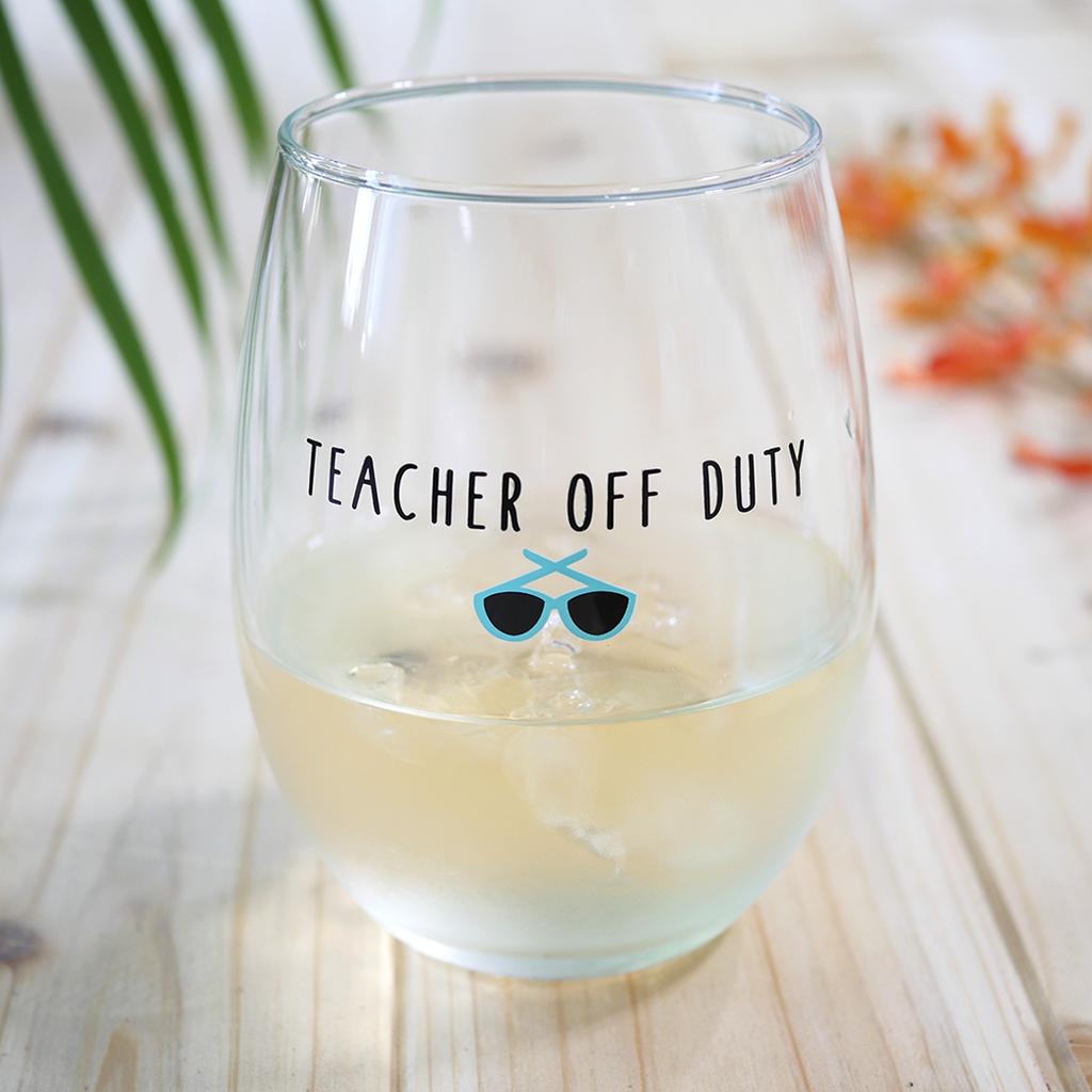 Teacher End Of Year Gift Teacher Gift Teacher Wine Glasses Gift For Teacher Teachermode Off Stemless Wine Glass