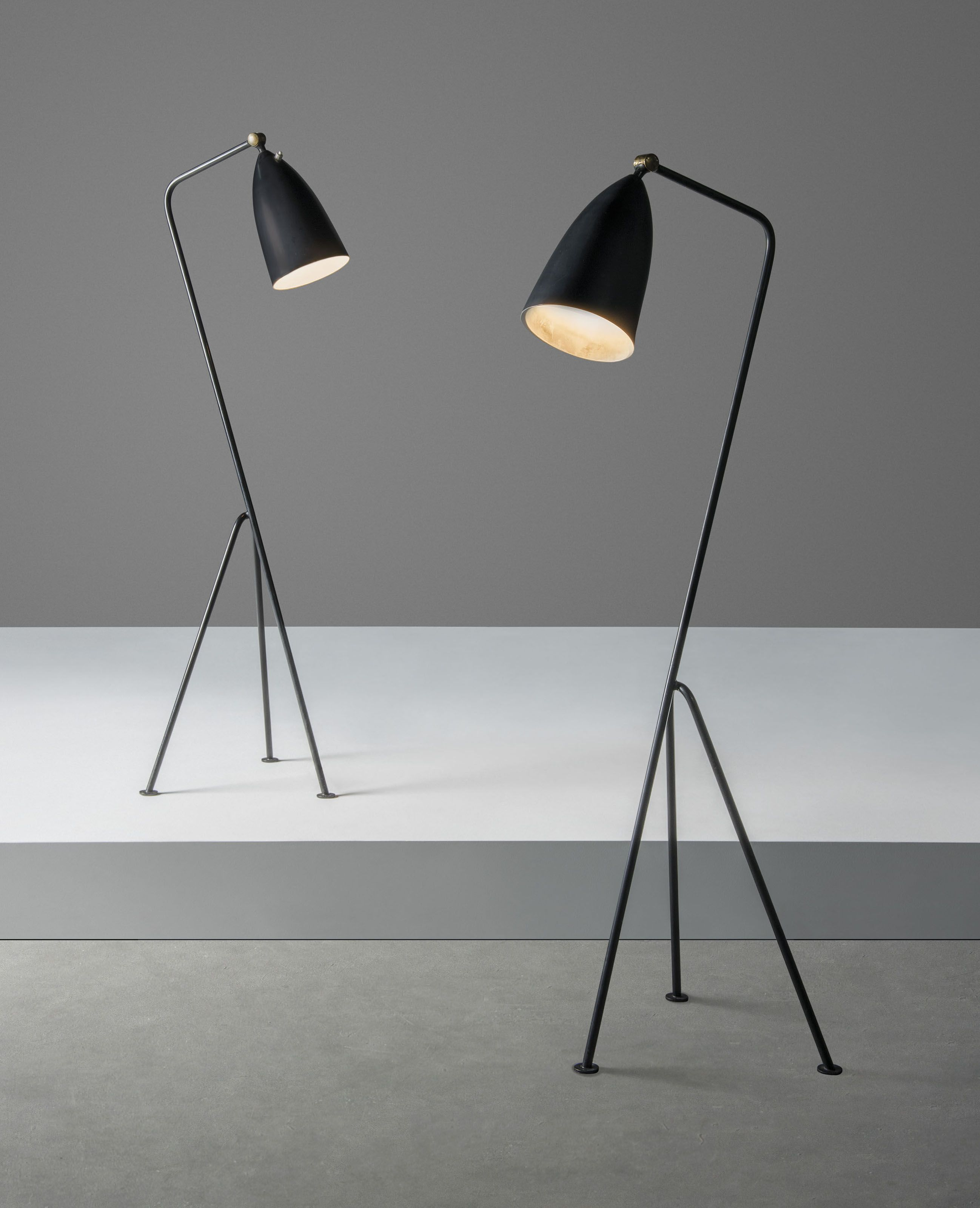Greta Magnusson Grossman 1906 1999 A Pair Of Grasshopper Standard Lamps Designed 1947 Christie S Stehlampe Lampe