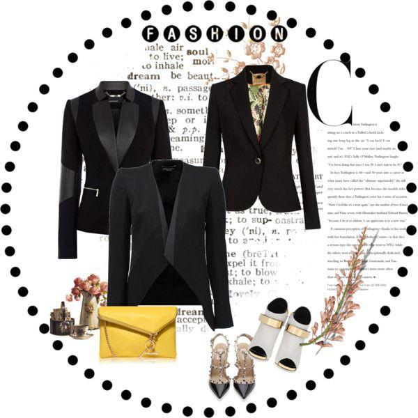 """""""Black Blazer"""" by liuyiju on Polyvore"""