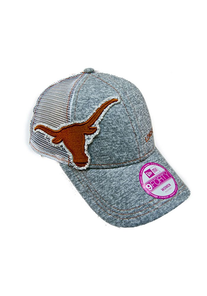 ae76c4f8b55 Texas (UT) Longhorns New Era Womens Gray M Twist Trucker Adjustable ...