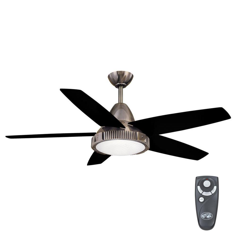 Hampton Bay Thorton 52 In Indoor Gunmetal Ceiling Fan With Light Kit And Remote Control Yg182 Gm En 2020 Ventiladores De Techo Ventilador Techo