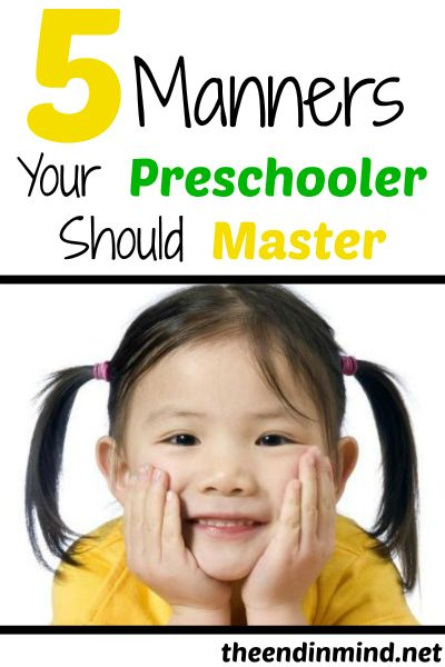 5 Manners Your Preschooler Should Master - By Carletta Sanders
