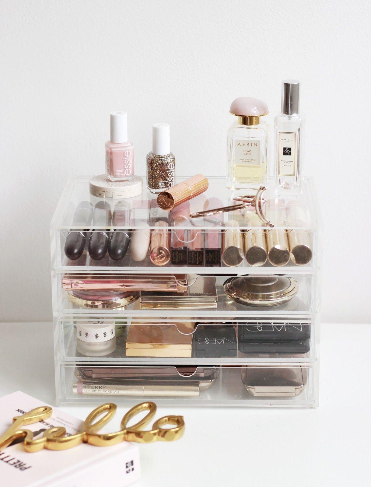 A Muji Makeup Storage Overhaul Muji Makeup Storage Makeup Storage Makeup Storage Organization