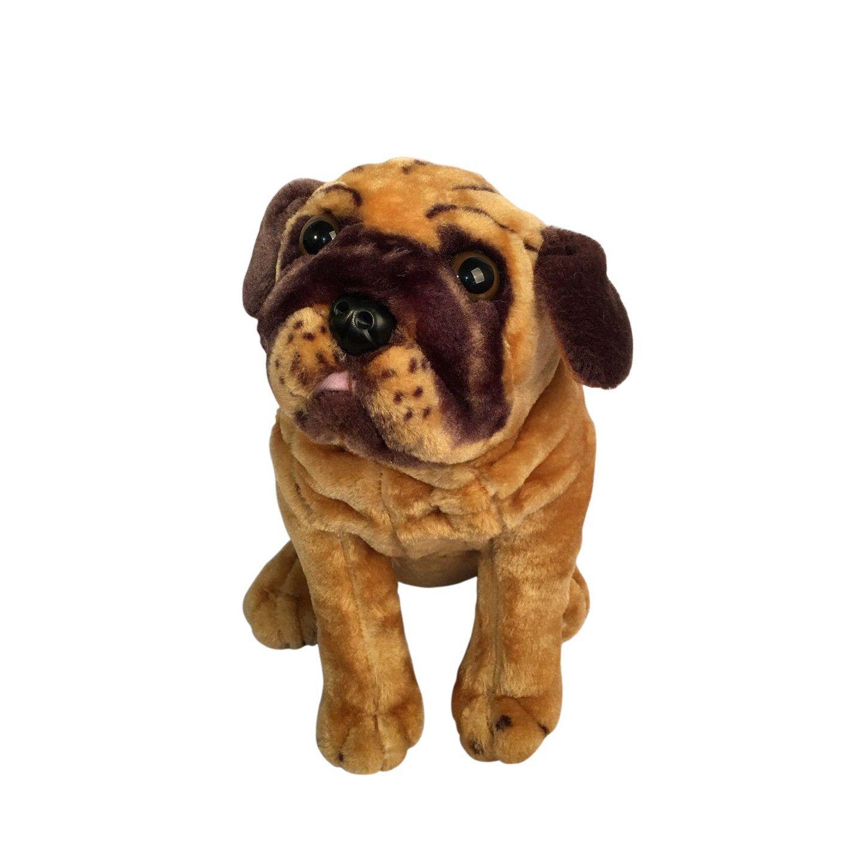 Super Toy Lifelike Animal Toys Stuffed Plush Pug Dog Children