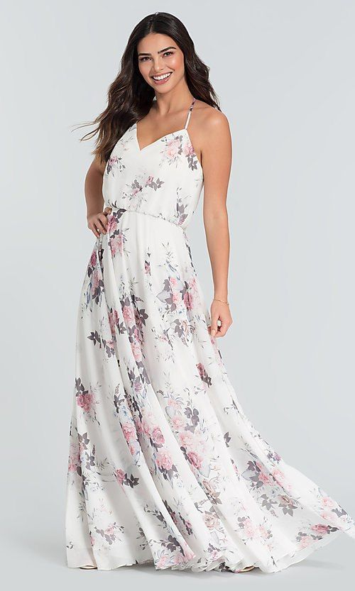 898cd1e65b Image of floral-print chiffon bridesmaid dress by Kleinfeld. Style   KL-200051 Detail Image 7