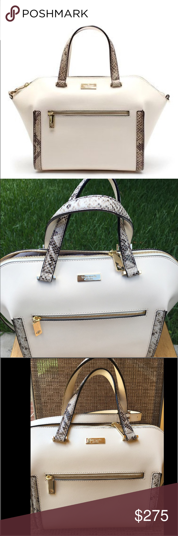Kate Spade Savannah Parliament Square Handbag Kate Spade Savannah Parliament Square Handbag.  Brand new with tags.  Classic handbag for any occasion.  Never goes out of style .  Gorgeous, classy and chic for any season!! kate spade Bags Satchels