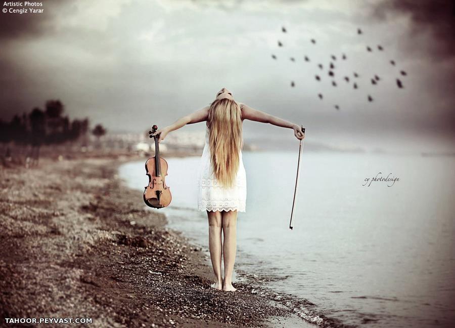фотосессия со скрипкой