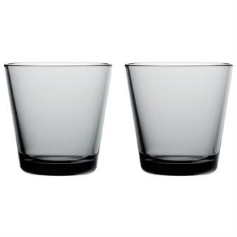 Iittala Gläser kartio glas 21 cl 2 stk grå iittala glas porcelæn skåle