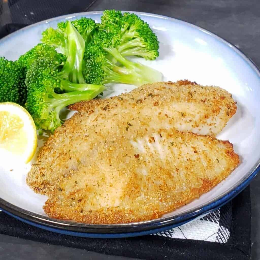 Easy Air Fryer ParmesanCrusted Tilapia Grits and Gouda