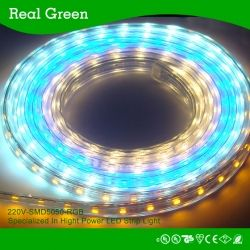 Remark:10mm FPC Model Number:RG-220V-5050-60-RGB Voltage:110V/220V Power:11.5W/M LED sources:SMD5050 LED Qty:60 Color:Red,green,blue,purple Length:12*7mm Waterproof:IP65 Lifespan:50,000Hours Working Temperature:-20°C ~55°C Color Rendering Index(CRI):Ra≥80
