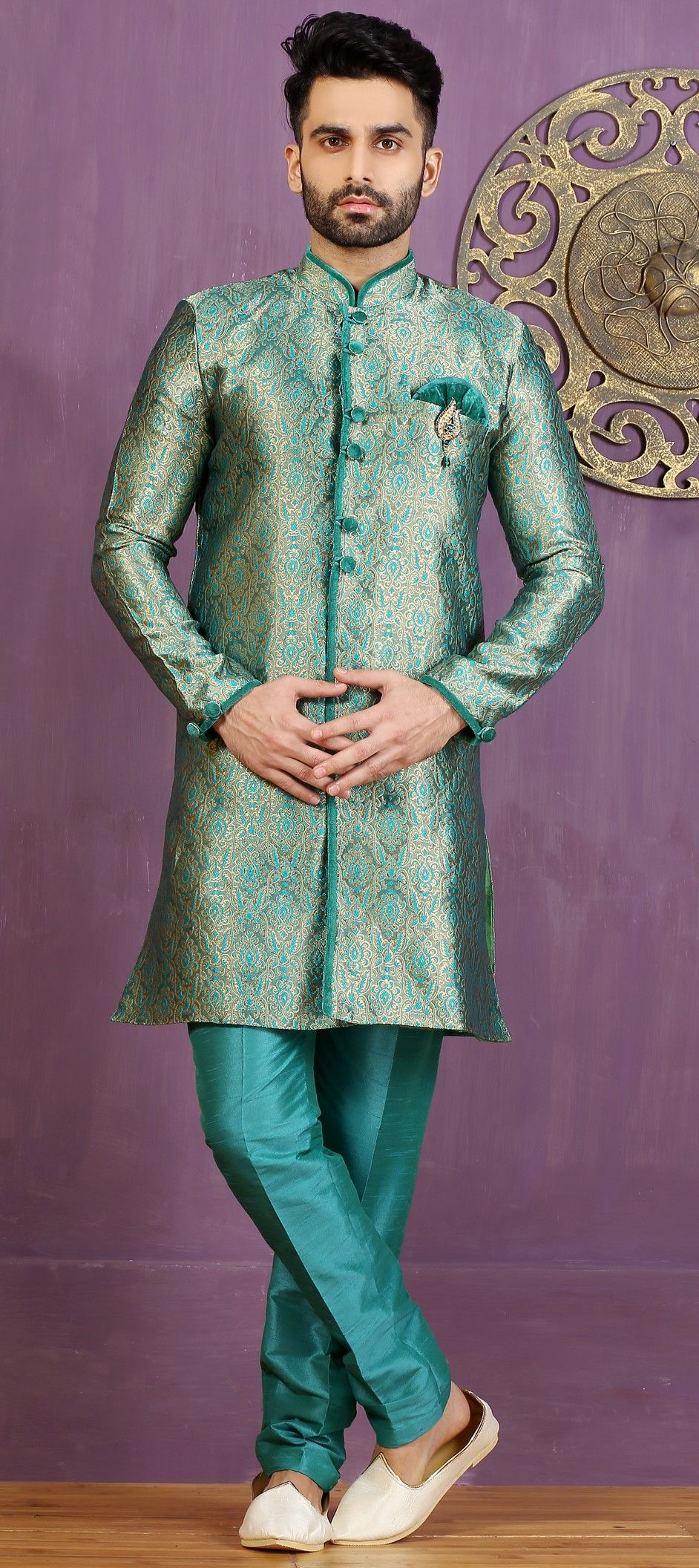 506338: Green color family stitched IndoWestern Dress . | My ...