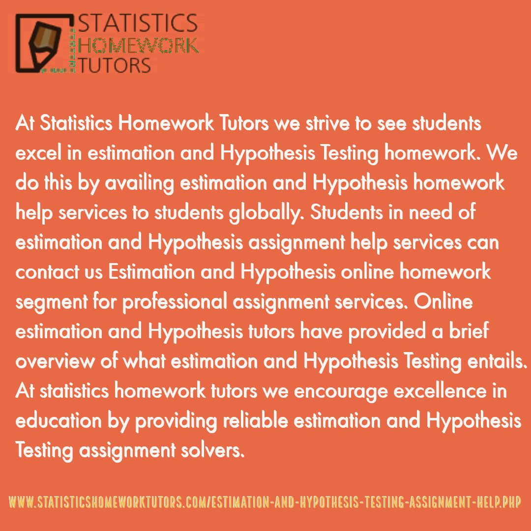 Statistics Homework Tutors Offers Assignments Homeworks
