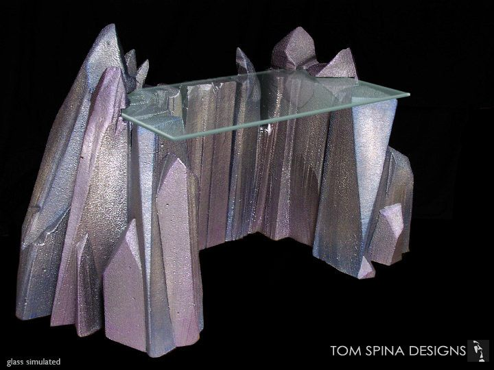 crystal ice furniture | ... carved sculpture and furniture, a colorful giant-crystal style desk