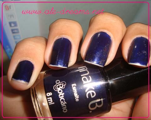 """London Night Blue"" - Fashion Colection Make B d'O Boticário  posted at my blog ALE'S DREAMS (http://ale-dreams.net)"