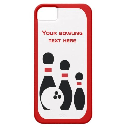 Bowling ball and pins custom iPhone 5 cover