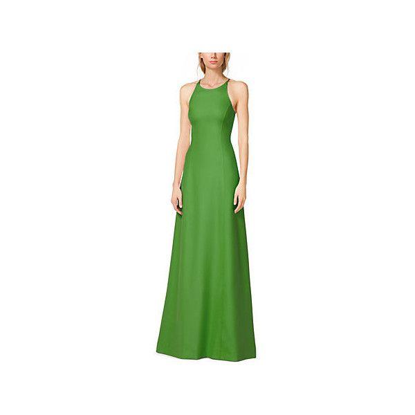 Michael Kors Silk-Crepe Halter Gown, Size: 4, Green (€1.105 ...