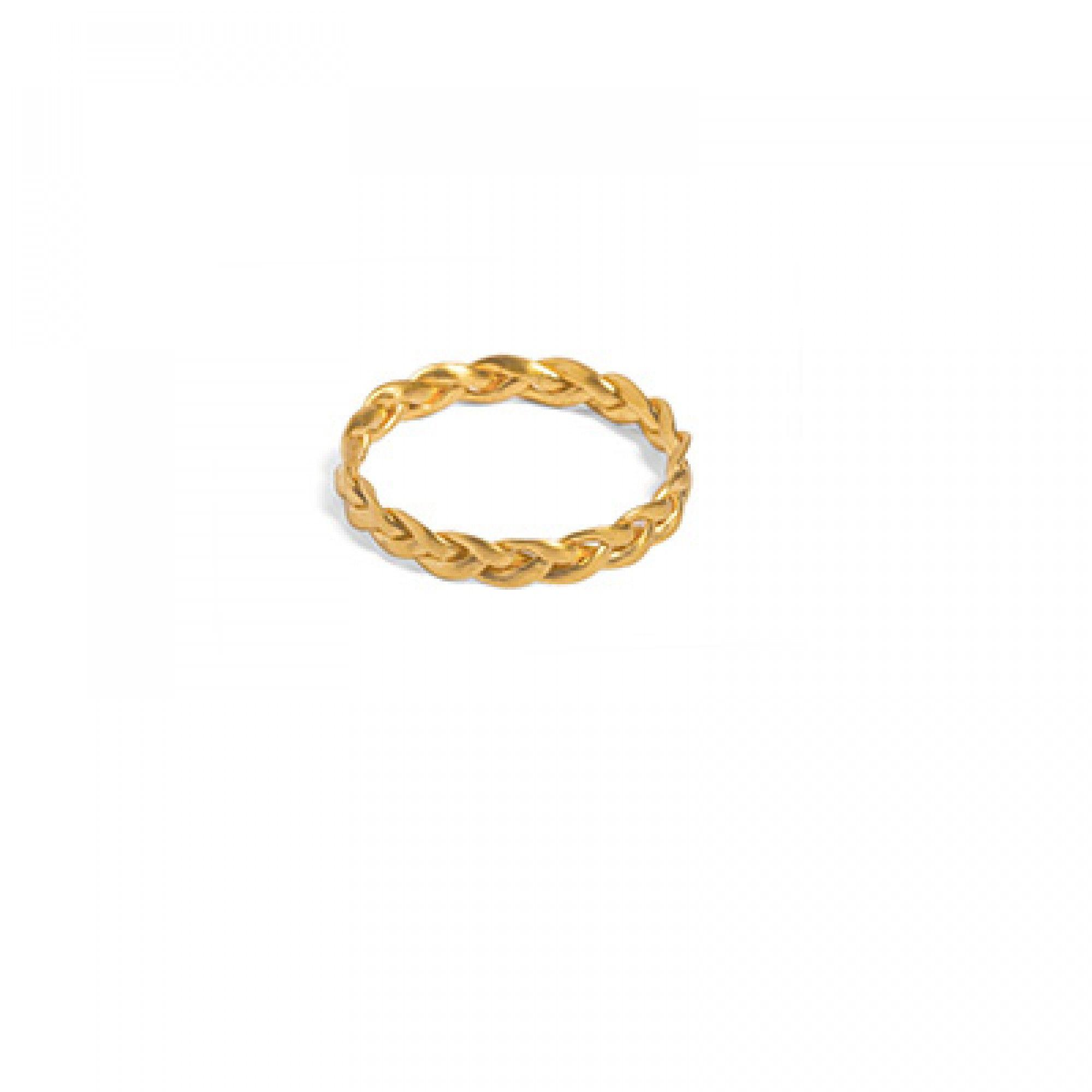 Kleiner geflochtener Ring aus vergoldetem Silber Vergoldetes