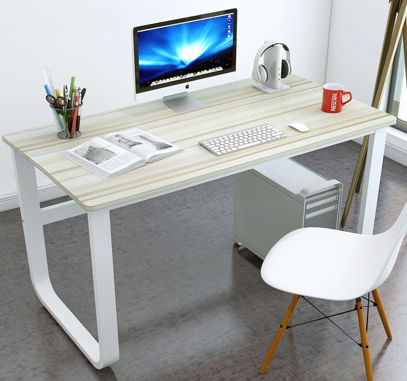 Broadstreet Large Thick Wood Metal Computer Desk Metal Computer Desk Wood And Metal Desk Desk