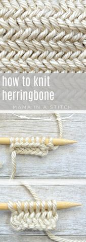 Photo of How To Knit the Horizontal Herringbone Stitch