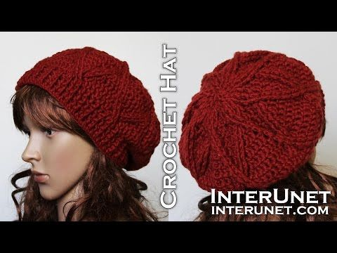 How to crochet a hat - slouchy hat crochet pattern - YouTube ...