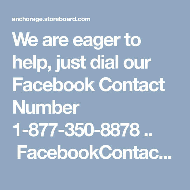 Facebook number to call for help