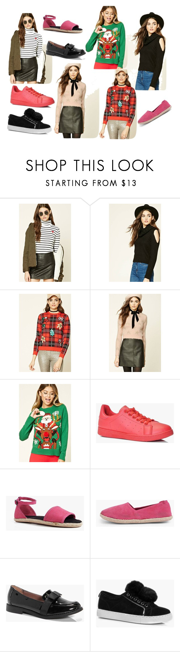 """""""A to Z style"""" by cate-jennifer ❤ liked on Polyvore featuring Forever 21, Boohoo and vintage"""