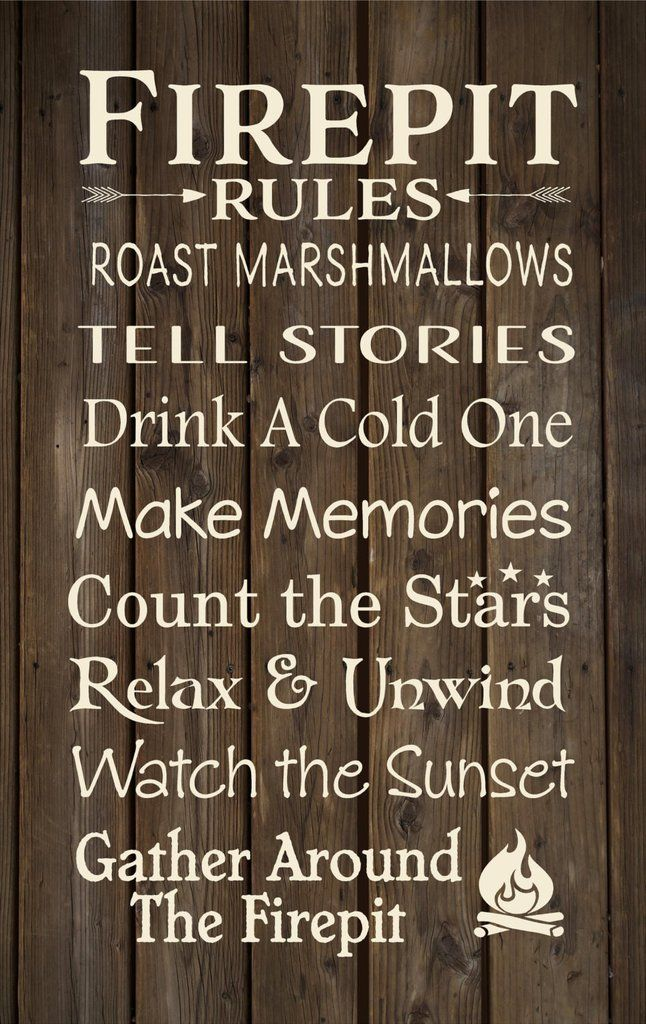 Firepit Rules Banner Cabin, Backyard Decor Christmas Gift, Secret Santa,  Happy… - Firepit Rules Banner Cabin, Backyard Decor Christmas Gift, Secret