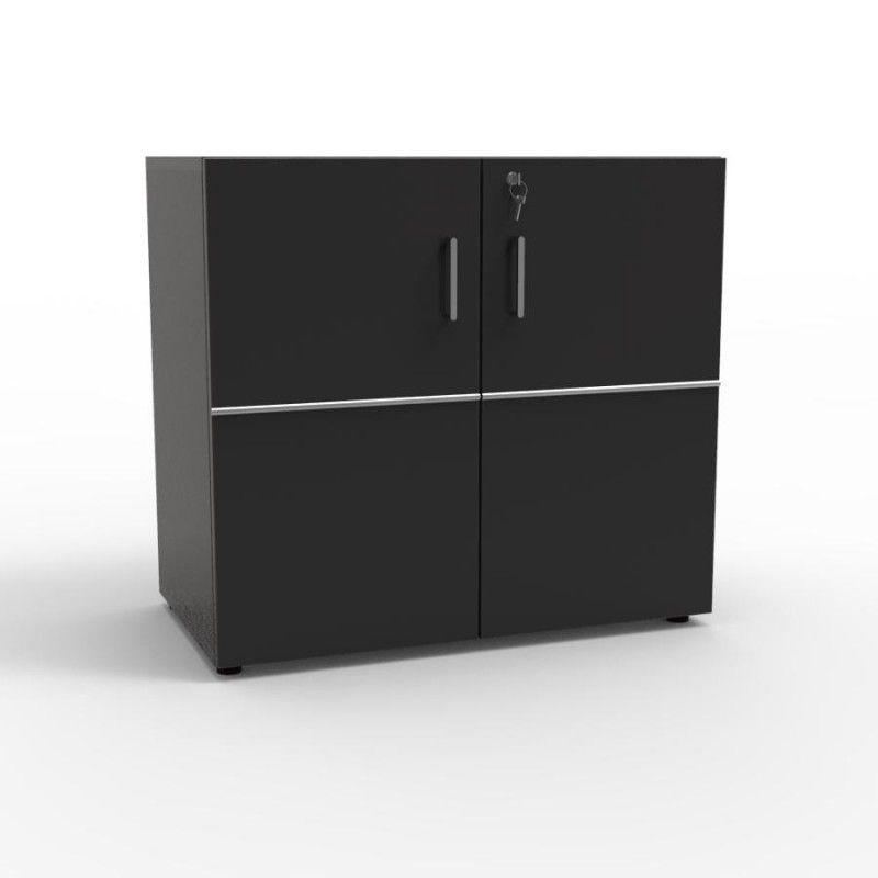 Meuble De Rangement Avec Serrure En Bois Opticlass Mini Noir En 2020 Meuble Rangement Rangement Etagere Amovible