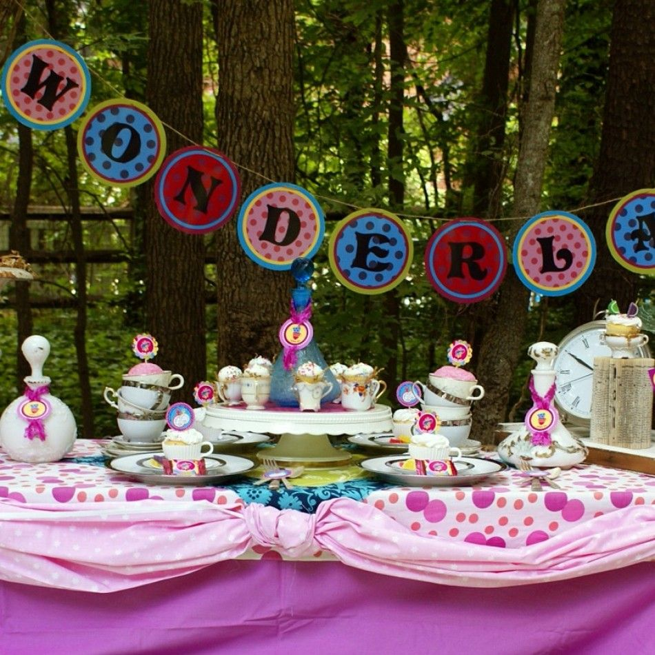 Good Alice In Wonderland Party Decorations Part - 3: Alice In Wonderland Birthday Tea Party DIY Printable Package - Instant  Download. Love The Colored