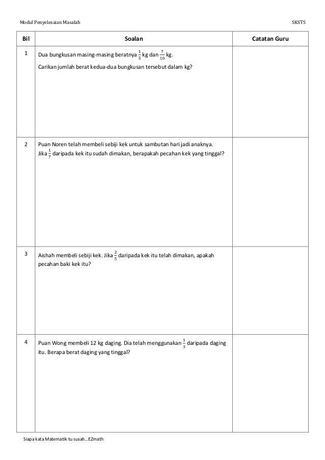 Modul Penyelesaian Masalah Matematik 4 Preschool Learning Activities Preschool Learning Math Stations