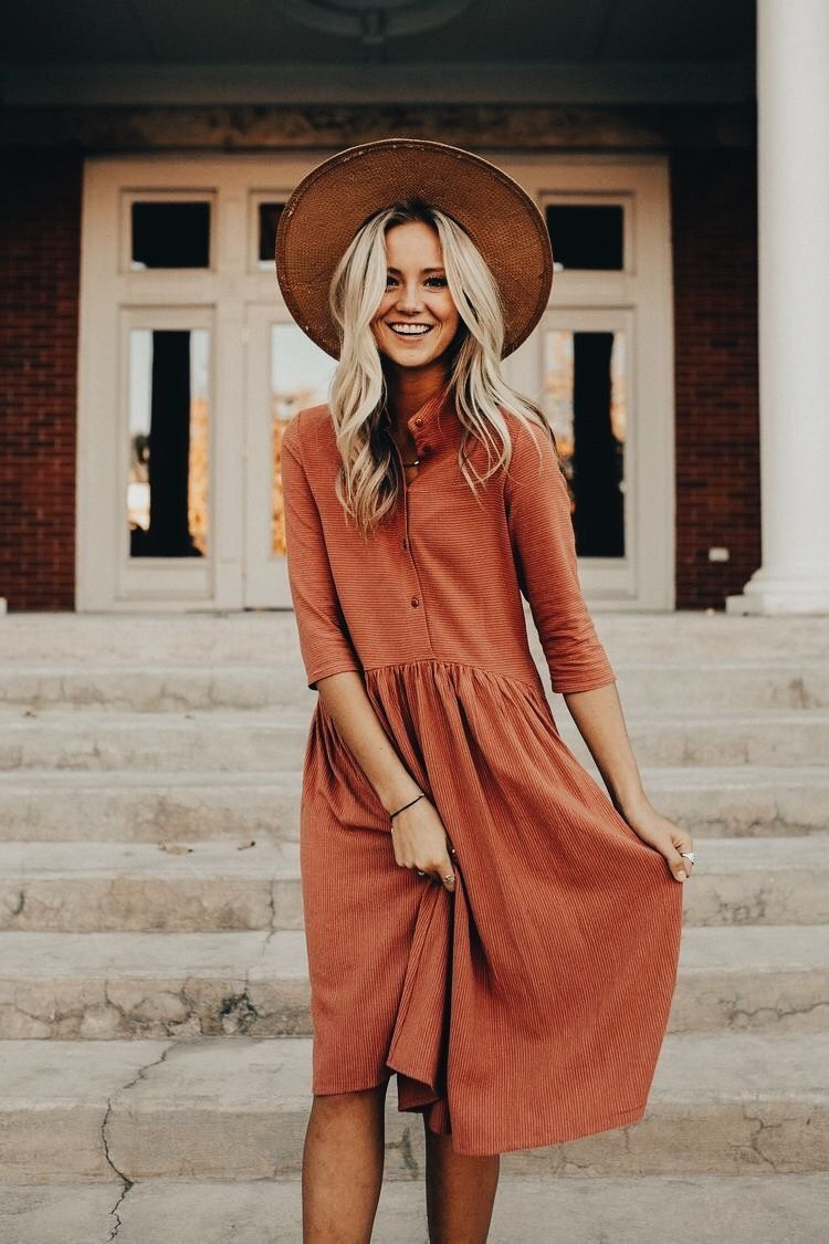 Orange dress casual  Comfy casual dress  fashion  Pinterest  Comfy casual Comfy and