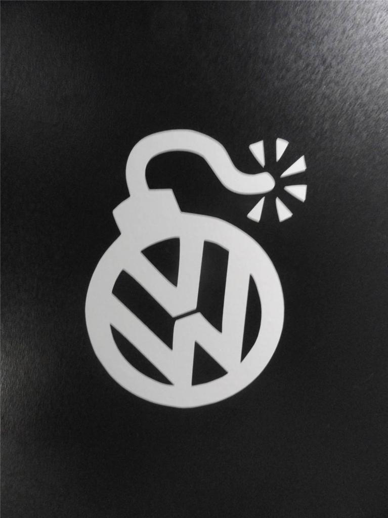 Vw volkswagen bomb sign vinyl sticker decal gti jetta golf beetle #004