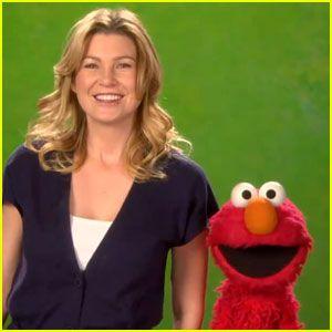 Ellen Pompeo & Elmo