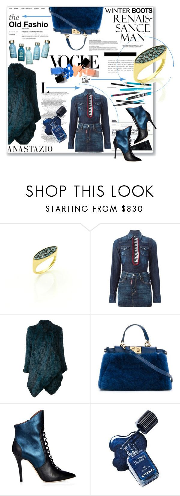 """""""Anastazio-boots"""" by anastazio-kotsopoulos ❤ liked on Polyvore featuring Dsquared2, H Brand, Fendi and Malone Souliers"""