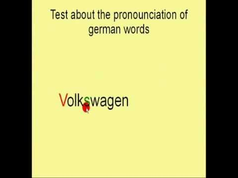 Test about your pronunciation of german words Pt  2