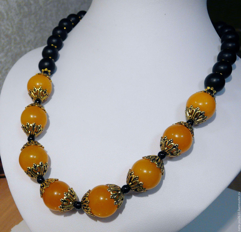 Photo of Yellow Onyx and Shungite Beads – Buy Now!