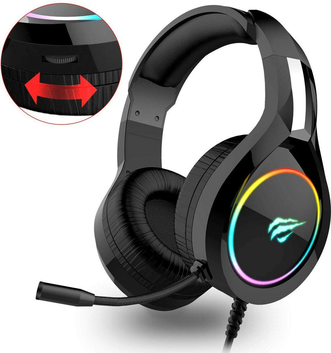 Neu Eingetroffen Havit Rgb Gaming Headset Ps4 Xbox One Nintendo Switch Surround Sound Schwarz Ecommerce Onlines Gaming Headset Over Ear Kopfhorer Mikrofon