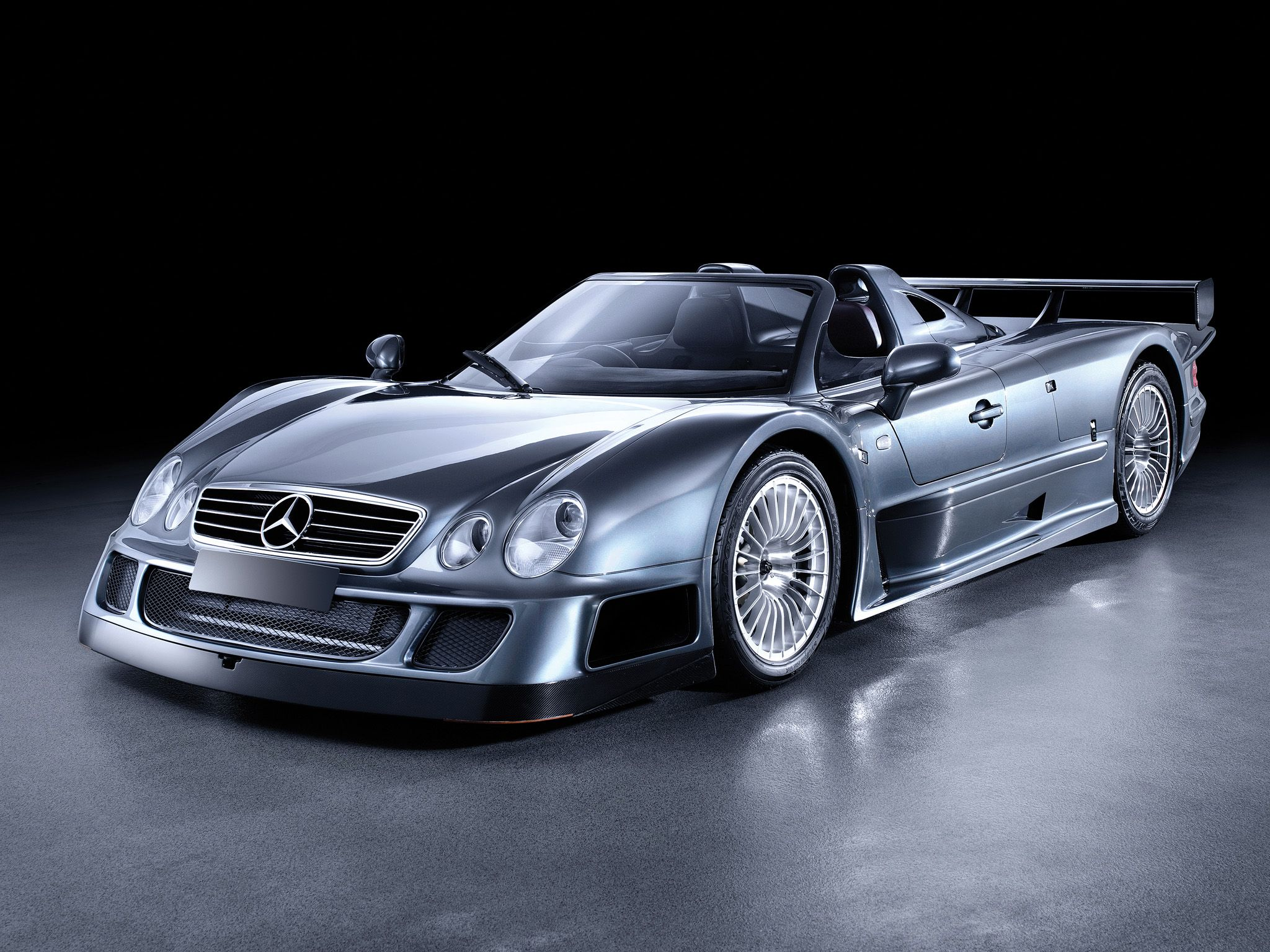 mercedes-benz clk gtr amg roadster road version. front angle
