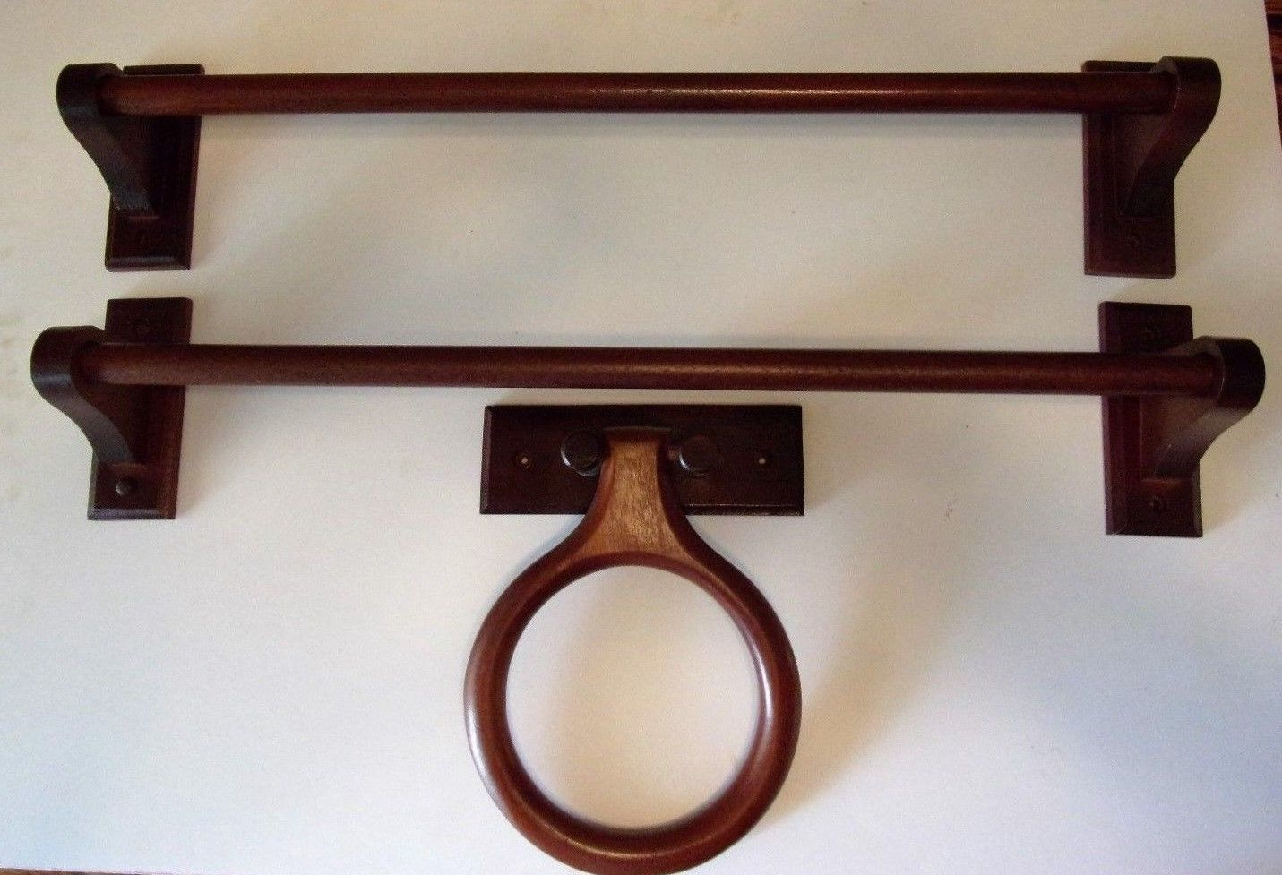 3 wood #bathroom #towel #racks lot,  View more on the LINK: 	http://www.zeppy.io/product/gb/2/331993617364/