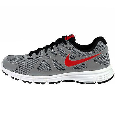 Nike Revolution 2 Gs Big Kids 555082-013 Grey Red Running Shoes Youth Size  4.5