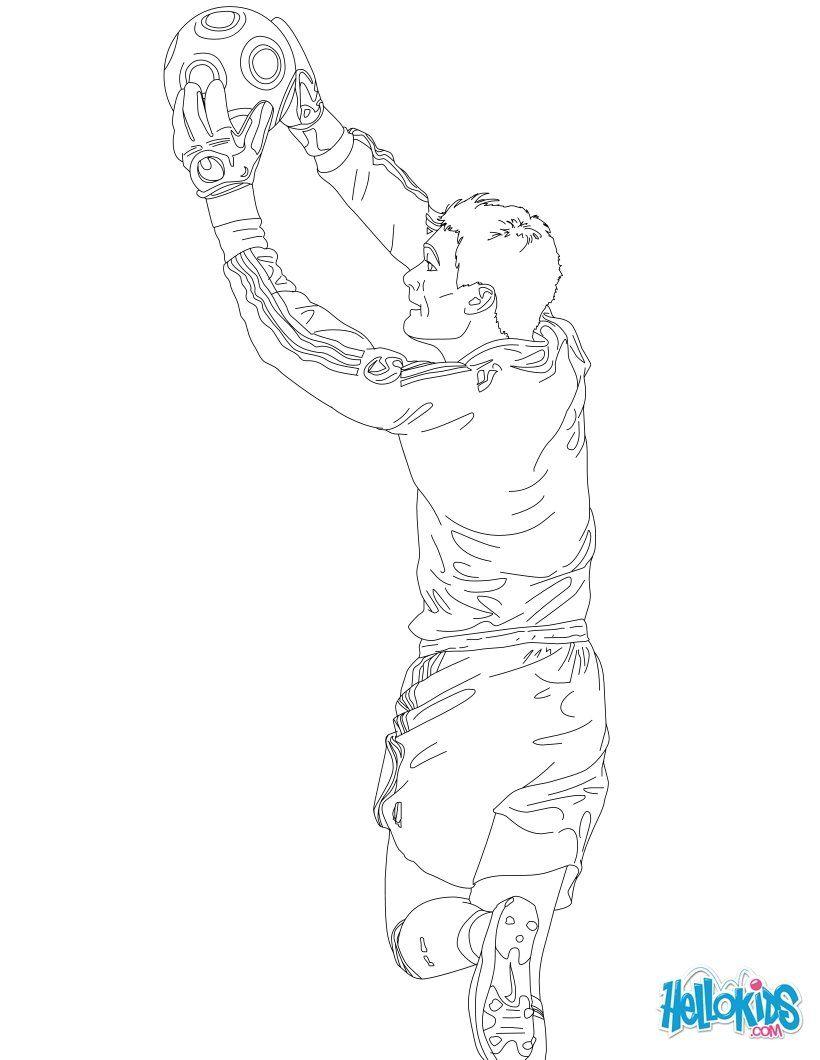 Hugo Lloris Coloring Page Coloriage Coloriage Joueur De Foot